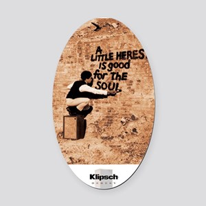 Heresy Poster Oval Car Magnet