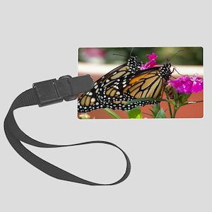 Twin Monarchs clutch bag Large Luggage Tag