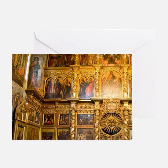 Golden Ring city of Uglich on the Vo Greeting Card
