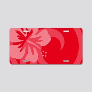 Red-Toiletry Aluminum License Plate