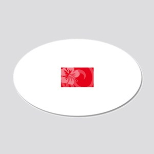 Red-Toiletry 20x12 Oval Wall Decal