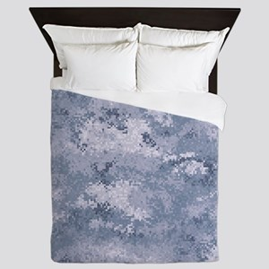 Gray Digi Camo Queen Duvet