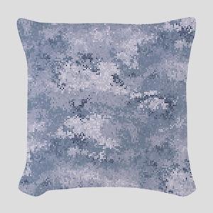 Gray Digi Camo Woven Throw Pillow