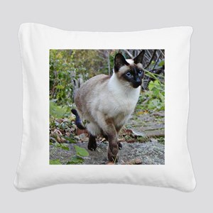 Siamese Cat Square Canvas Pillow