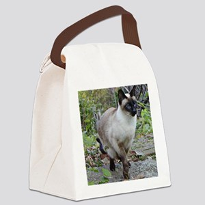 Siamese Cat Canvas Lunch Bag