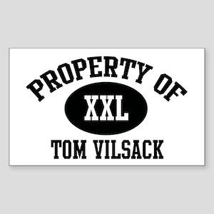 Property of Tom Vilsack Rectangle Sticker