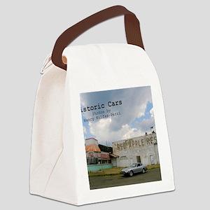 historic cars calendar z Canvas Lunch Bag