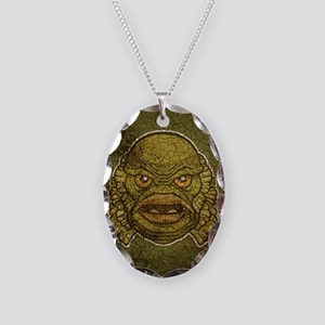 11x17_print_creature_img Necklace Oval Charm