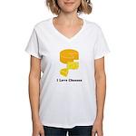 I Love Cheeses Women's V-Neck T-Shirt