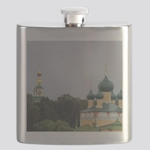 Golden Ring city of Uglich on the Volga. Cat Flask