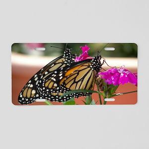 Twin Monarchs toiletry bag Aluminum License Plate