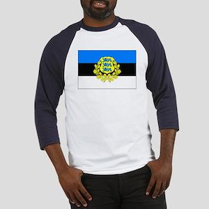 Estonia w/ coat or arms Baseball Jersey