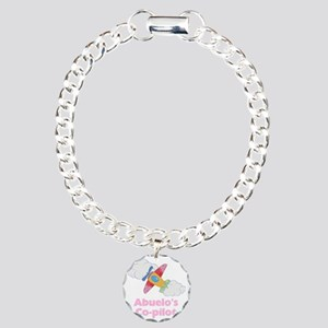 Girl Abuelos Copilot Charm Bracelet, One Charm