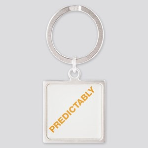 PREDICTABLEDRK Square Keychain
