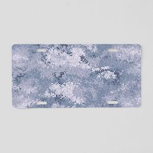 Gray Digi Camo Aluminum License Plate