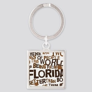 florida_brown Square Keychain