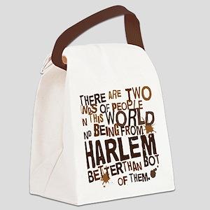 harlem_brown Canvas Lunch Bag
