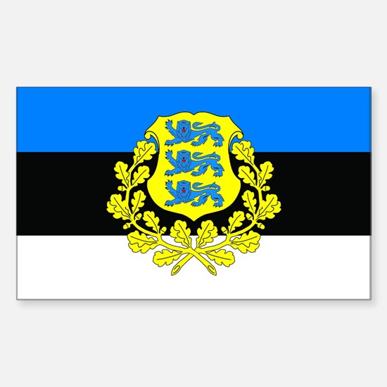 Estonia w/ coat or arms Rectangle Bumper Stickers