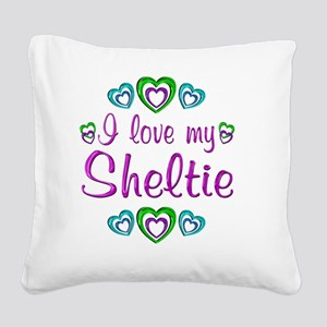 sheltie Square Canvas Pillow