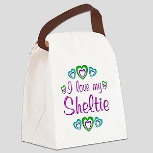 sheltie Canvas Lunch Bag