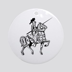 Mounted Knight Ornament (Round)