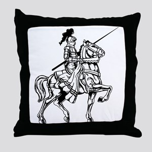 Mounted Knight Throw Pillow