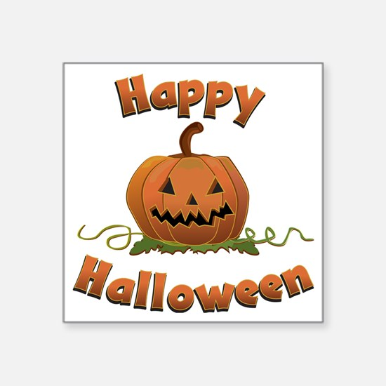 "happy halloween Square Sticker 3"" x 3"""