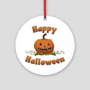 happy halloween Round Ornament