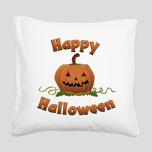 happy halloween Square Canvas Pillow