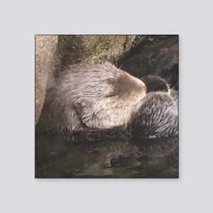 "otter 3 Square Sticker 3"" x 3"""