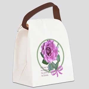 PinkRoseStuffMerge Canvas Lunch Bag