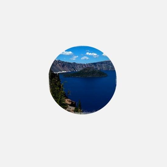 (16) Crater Lake  Wizard Island Mini Button