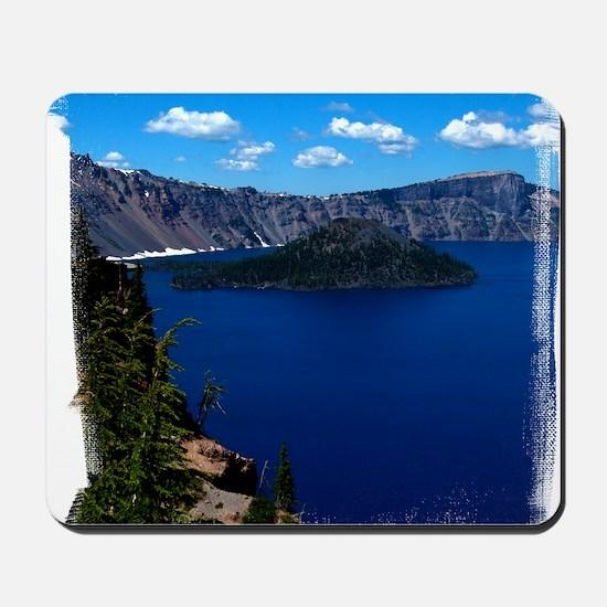 (16) Crater Lake  Wizard Island Mousepad