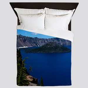 (16) Crater Lake  Wizard Island Queen Duvet