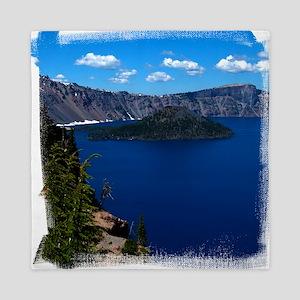 (16) Crater Lake  Wizard Island Queen Duvet