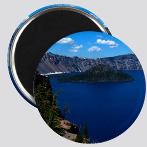 (16) Crater Lake  Wizard Island Magnet