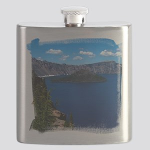 (16) Crater Lake  Wizard Island Flask