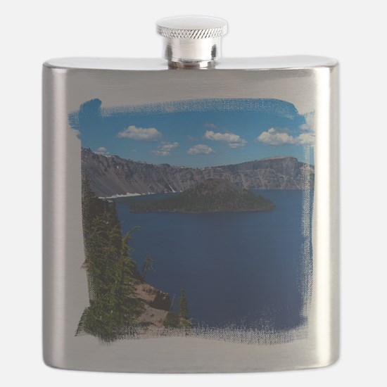 (16) Crater Lake  Wizard Island Flask