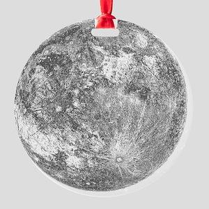 2000x2000moon Round Ornament