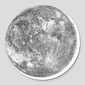 2000x2000moon Round Car Magnet