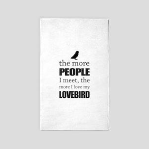 The More People I Meet - Lovebird Area Rug