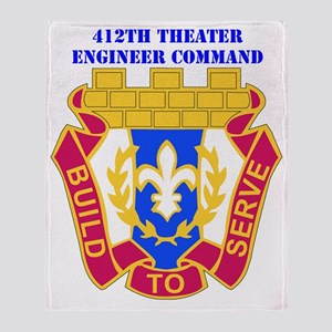 DUI-412TH THEATER ENGINEER COMMAND W Throw Blanket