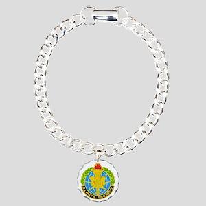 DUI-MILITARY INTELLIGENC Charm Bracelet, One Charm