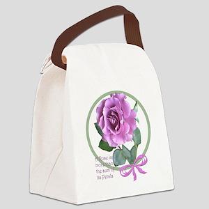 PinkRoseStuffMergeSM Canvas Lunch Bag