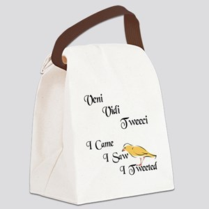 veni vidi tweeci light Canvas Lunch Bag
