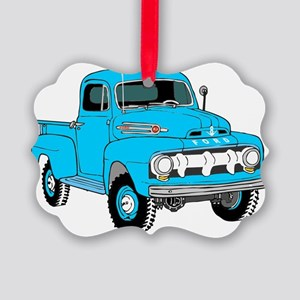 Old Truck Picture Ornament