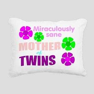 Sane mother of twins Rectangular Canvas Pillow