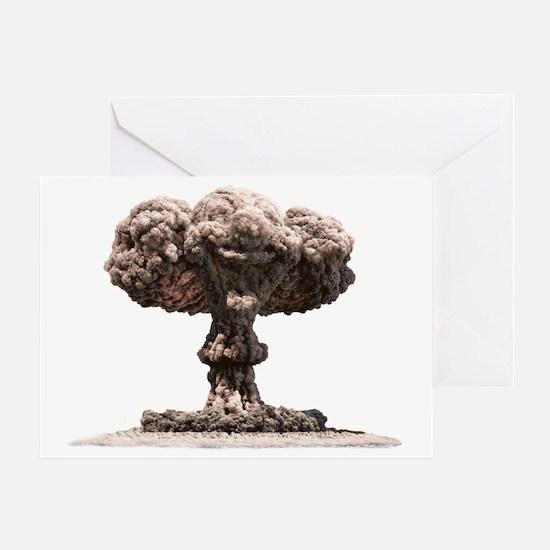 Atomic explosion Greeting Card