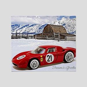Hot Wheels_Ferrari 250 Le Mans_Red_O Throw Blanket