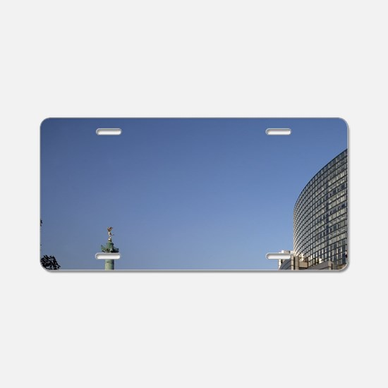 Opera de Paris Bastille wit Aluminum License Plate